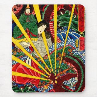 El dragón ardiente - cojín de ratón tapete de ratones