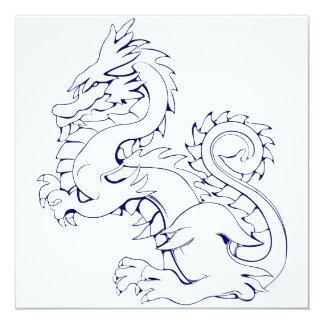 """El dragón asiático de Tatsu es criaturas míticas Invitación 5.25"""" X 5.25"""""""