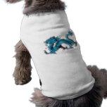 El dragón azul chino playera sin mangas para perro