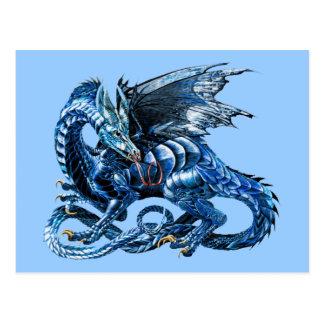 El dragón azul - tarjeta postal