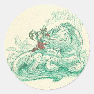 el dragón de Ali Pegatina Redonda