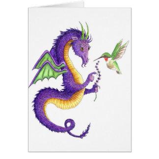 El dragón de la lavanda felicitación