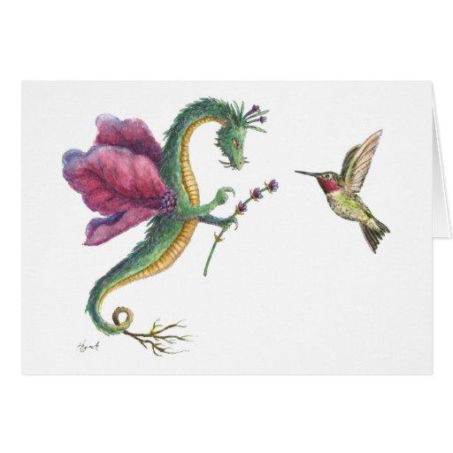 El dragón de la lavanda tarjeta de felicitación