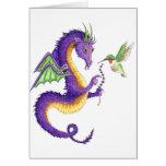El dragón de la lavanda tarjeta pequeña
