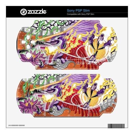 El dragón de Lotus PSP adelgaza pieles Calcomanías Para Sony PSP Slim