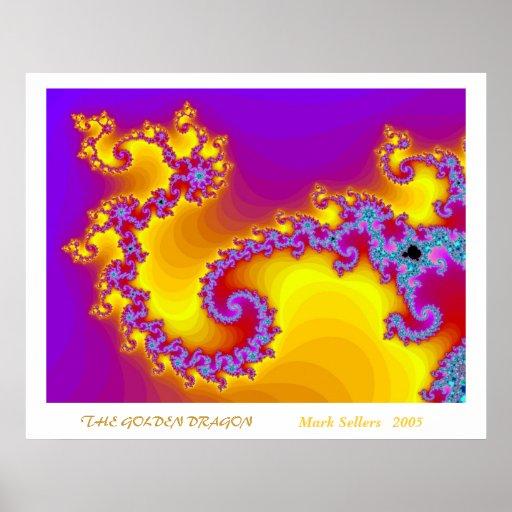 El dragón de oro poster