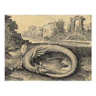 El dragón de Ouroboros que lo muerde es poseer la Tarjetas Postales