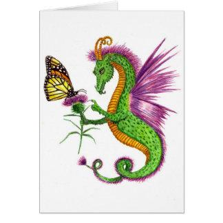 El dragón del cardo tarjeta