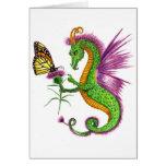 El dragón del cardo tarjeta pequeña