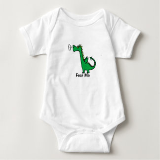 El dragón del dibujo animado me teme body para bebé