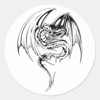 El dragón del Wyvern es criaturas míticas de la Pegatina Redonda