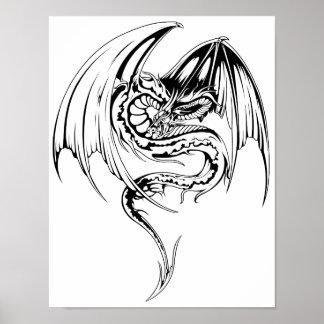 El dragón del Wyvern es criaturas míticas de la Póster