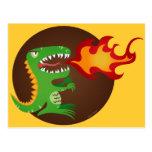 El dragón embroma arte de poco t y M.E. Volmar Postales