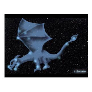 El dragón en la constelación del Draco Postales