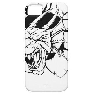 El dragón enojado se divierte la mascota iPhone 5 funda