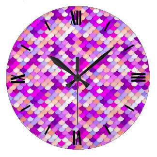 """El """"dragón escala"""" - púrpura. rosas fuertes y reloj redondo grande"""