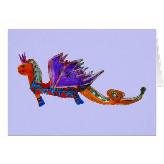 El dragón feliz tarjeta de felicitación