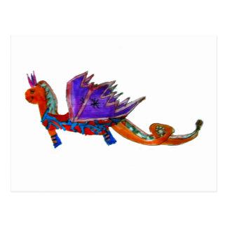 El dragón feliz postal