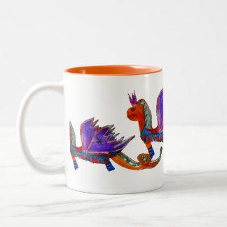 El dragón feliz taza