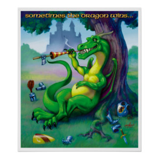 El dragón gana a veces la impresión verde