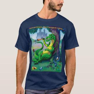El dragón gana a veces verde playera