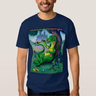 El dragón gana a veces verde remeras