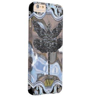 El dragón negro del líquido funda para iPhone 6 plus barely there