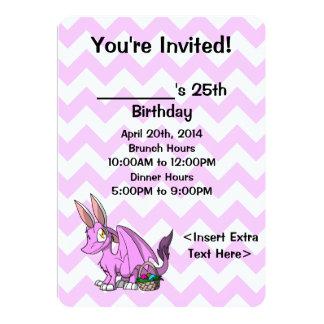 """El dragón peludo de Pascua Bubblegum SD invita a 1 Invitación 5"""" X 7"""""""