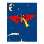 El dragón poderoso de Drake Tarjetas Postales
