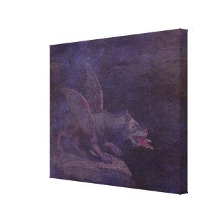 El dragón púrpura impresion de lienzo