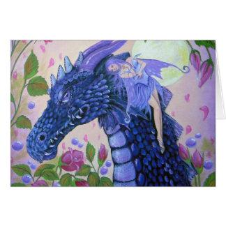 El dragón rasga condolencia tarjeta de felicitación