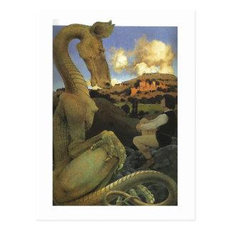 El dragón reacio, multa de Maxfield Parrish Tarjeta Postal