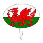 El dragón rojo [bandera de País de Gales] Decoración Para Tarta