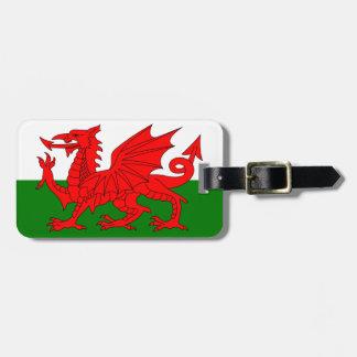 El dragón rojo [bandera de País de Gales] Etiquetas Bolsas