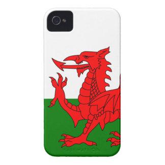 El dragón rojo [bandera de País de Gales] iPhone 4 Case-Mate Funda