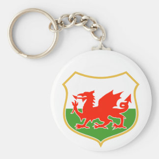 el dragón rojo de País de Gales galés del rugbi se Llaveros Personalizados