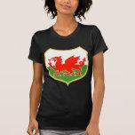 el dragón rojo de País de Gales galés del rugbi se Camiseta