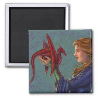 El dragón rojo joven imanes