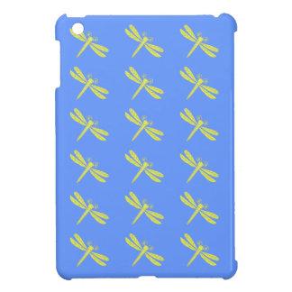 El dragón rojo vuela la caja azul de Ipad del fond iPad Mini Fundas