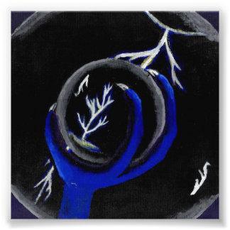 El dragón sostiene la bola de cristal para ver cojinete