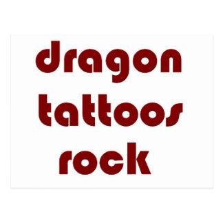 el dragón tatúa la roca postales