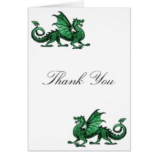 El dragón verde le agradece cardar tarjetas