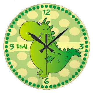 El dragón verde personalizado numera los relojes d