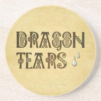 El dragón viejo del papel de pergamino rasga el nu posavasos manualidades