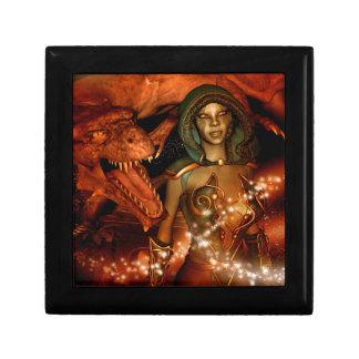 El dragón y el duende hermoso caja de regalo