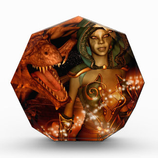 El dragón y el duende hermoso