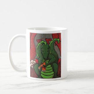 El dragón y la pizza taza