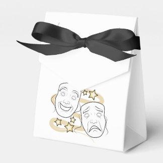 El drama enmascara comedia y tragedia cajas para regalos de boda
