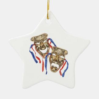 El drama enmascara el ornamento ornamentos de navidad