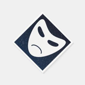El drama enmascara símbolo servilletas de papel